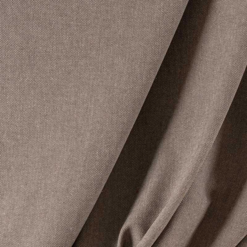 Tissu-lin-coton-chiné-taupe-fonçé