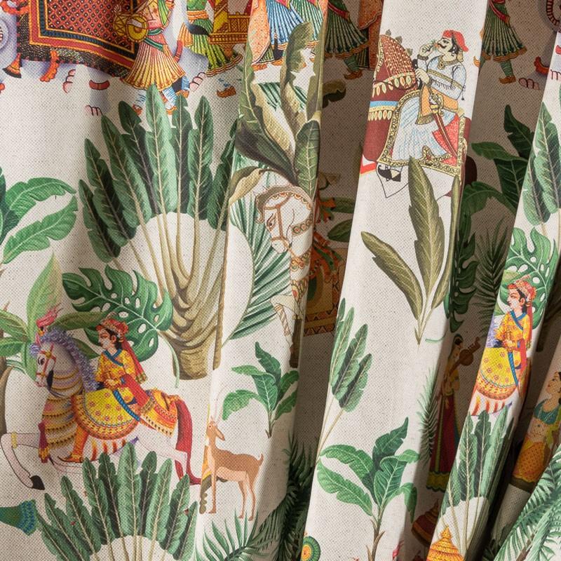 Tissu-280cm-lin-coton-motif-indien
