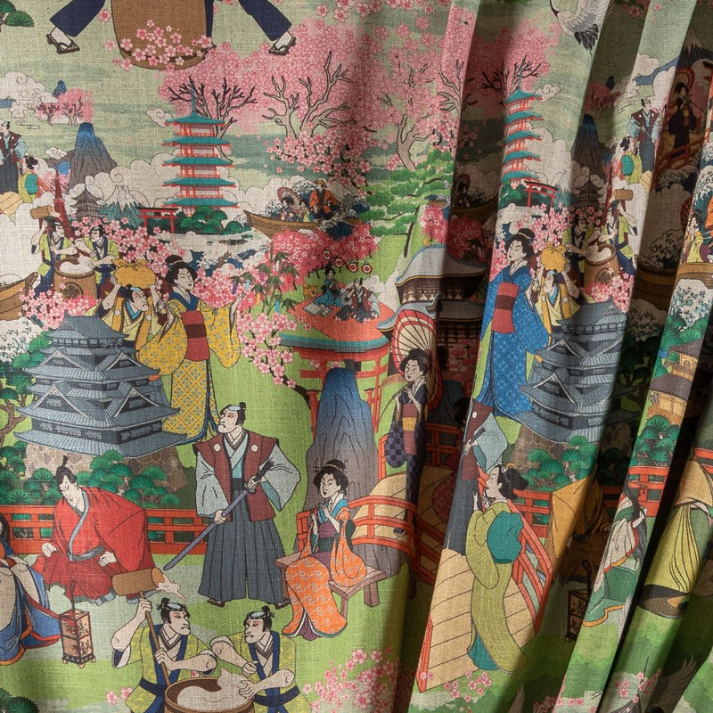 Tissu-280cm--lin-viscose-paysage-japonais