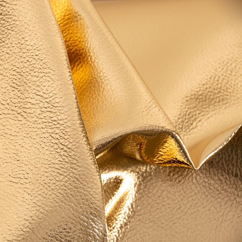 Tissu-simili-cuir-doré