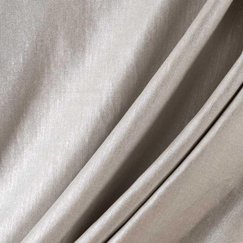 Tissu-lin-enduction-argenté