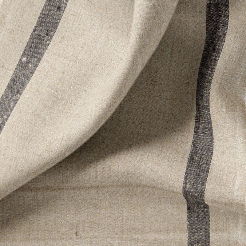 Tissu-torchon-lin-naturel-ligne-noir
