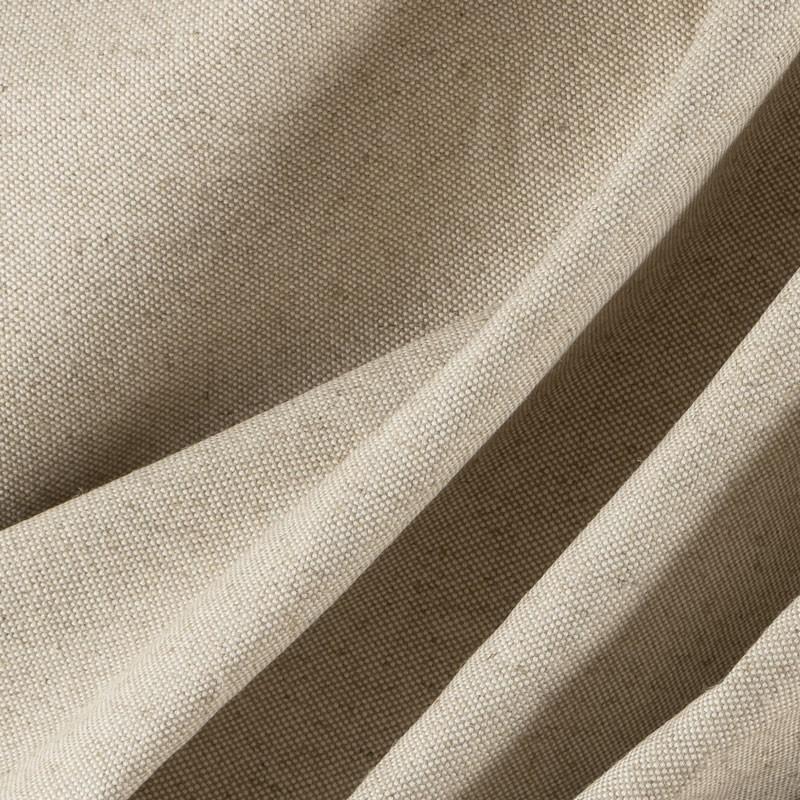 Tissu-lin-coton-natté-lourd-naturel