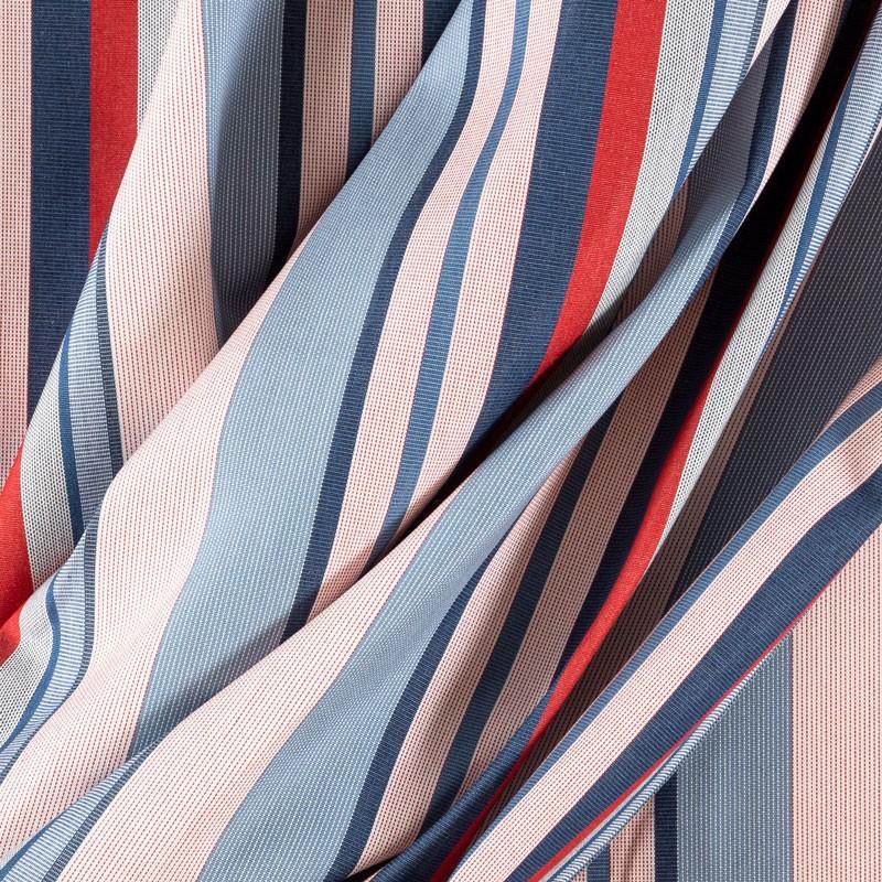 Tissu-320cm-outdoor-rayure-rouge-bleu