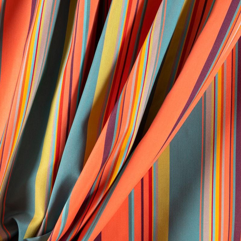 Tissu-320cm-outdoor-rayure-multicolore-corail