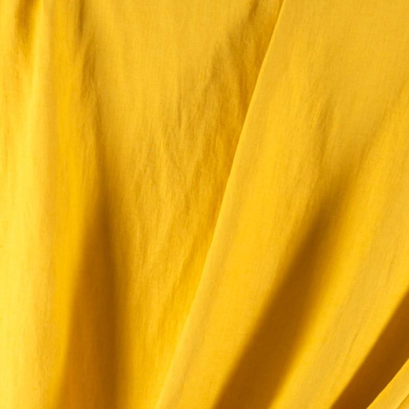 Tissu-lin-lavé-jaune-Washed-Linnen