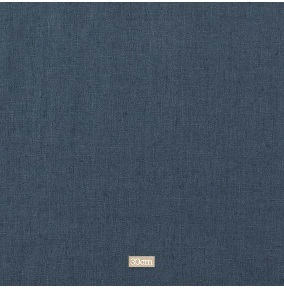 Tissu lin lavé bleu foncé Washed Linnen