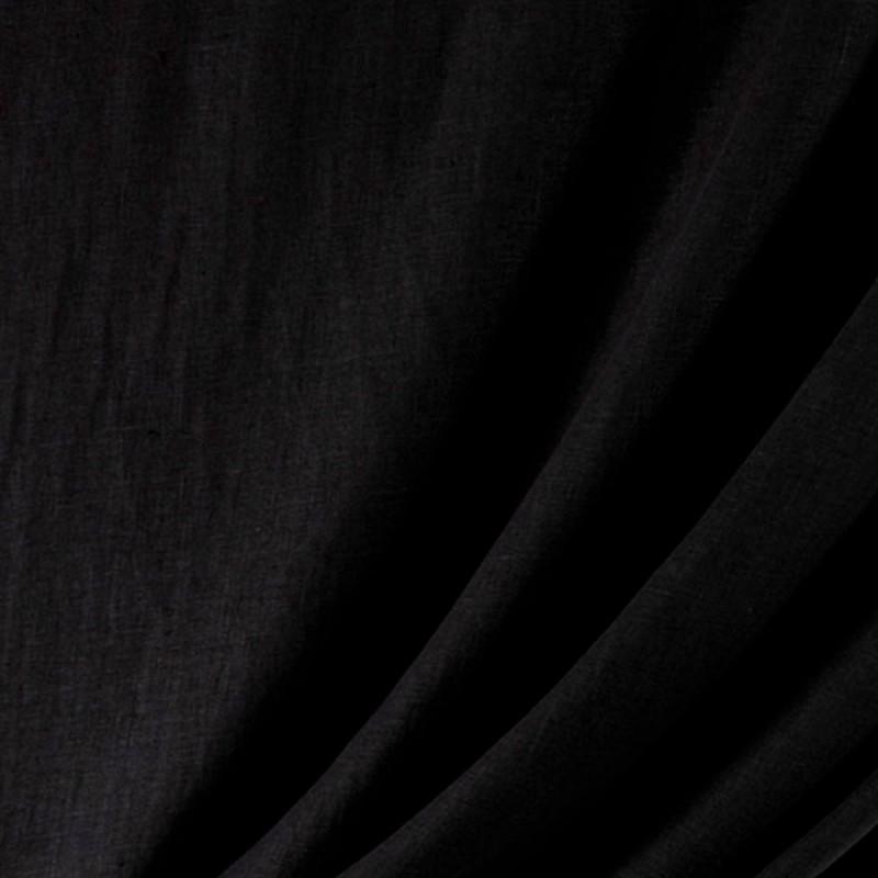 Tissu-lin-lavé-noir-Washed-Linnen