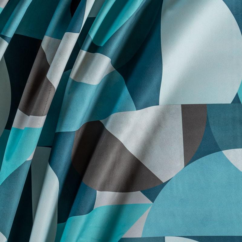Tissu-velour-imprimé-géométrique-bleu