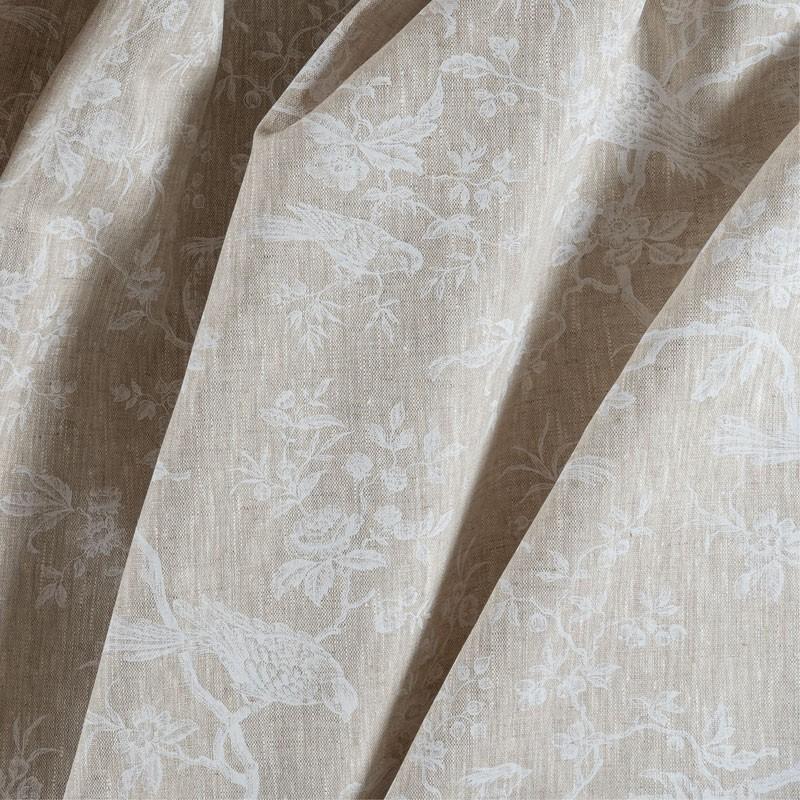 Tissu-lin-naturel-mésange-blanche
