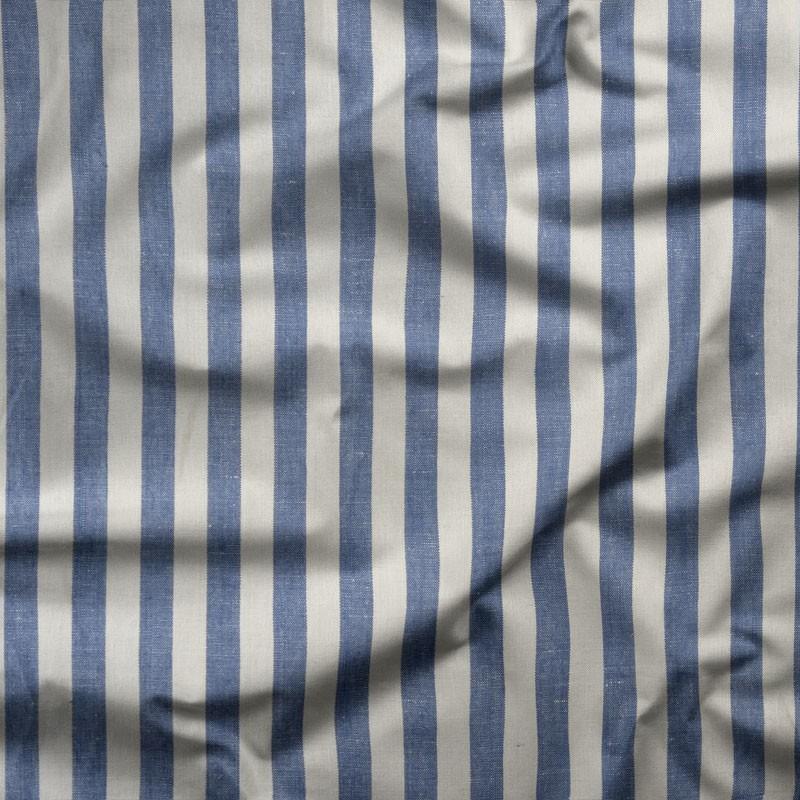 Tissu-lin-ligné-bleu