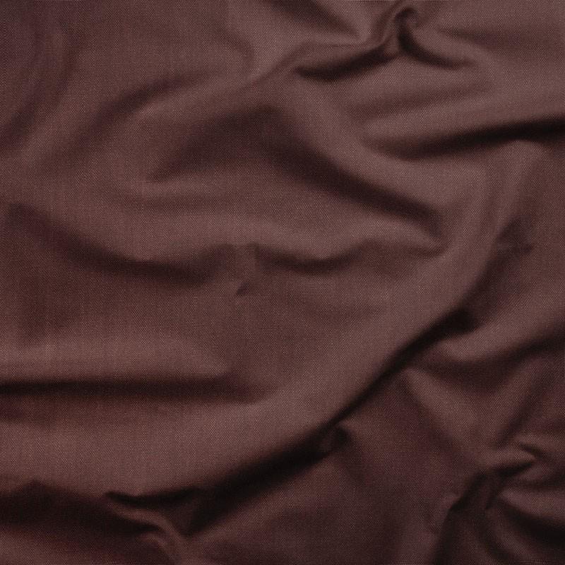 Tissu-lin-brun-rouge