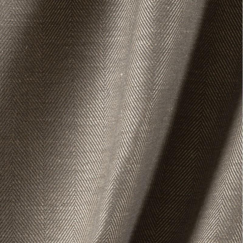 Tissu-lin-coton-naturel-à-chevron-taupe