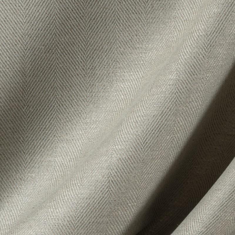 Tissu-lin-coton-naturel-à-chevron-vert-d'eau