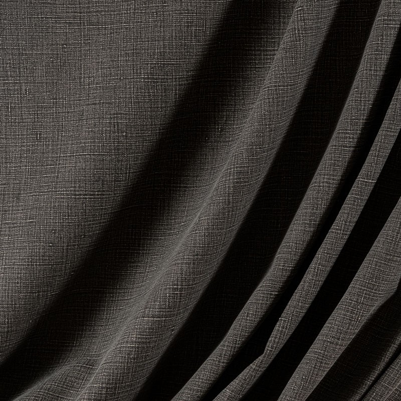 Tissu-lin-aspect-stonewash-noir