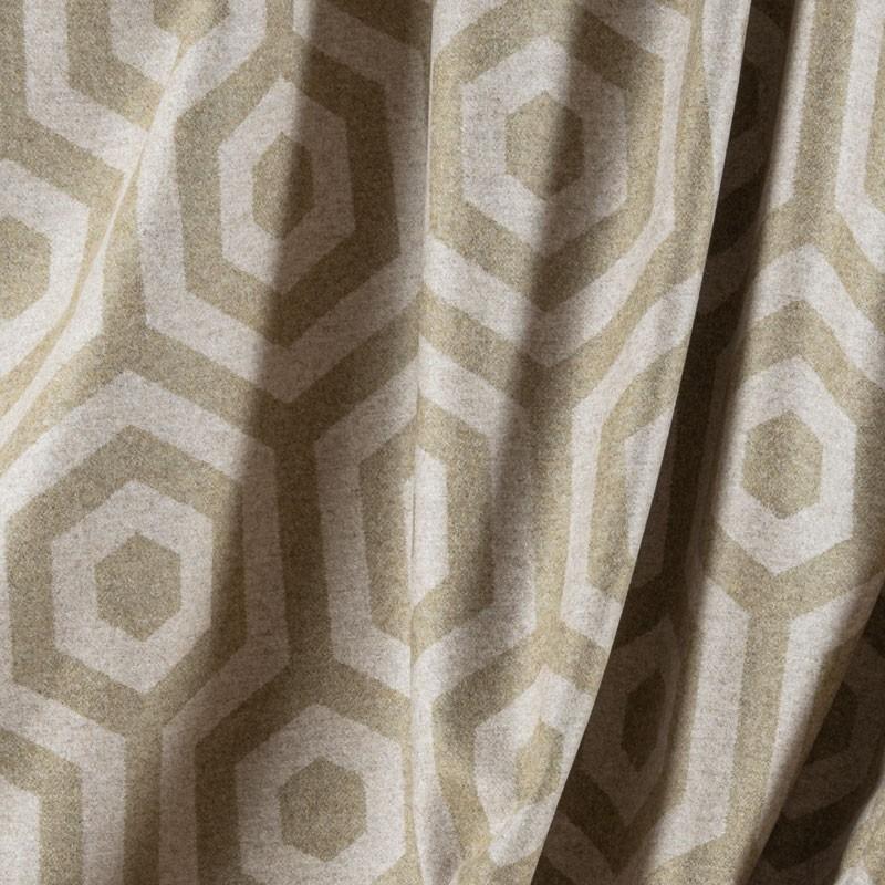 Tissu-en-laine-motif-géométrique