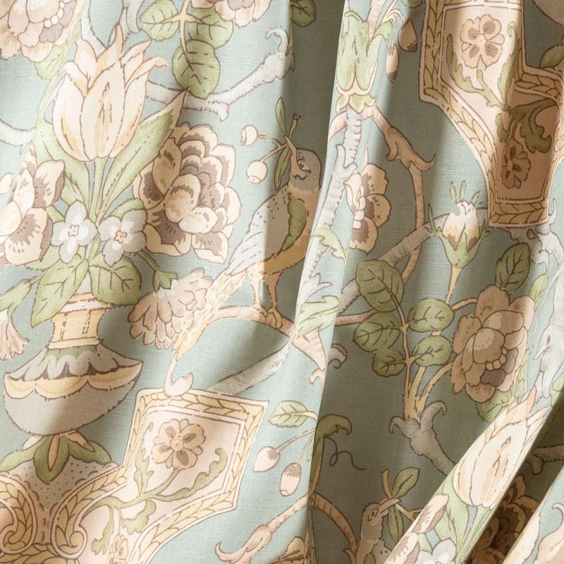 Tissu-lin-coton-imprimé-art-nouveau