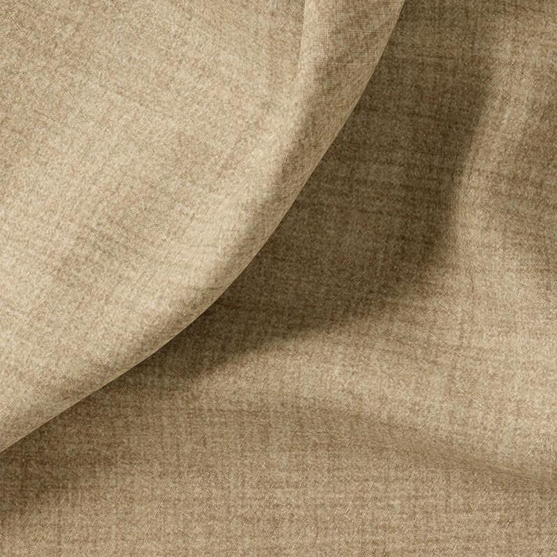 Tissu-polyester-aspect-laine-chiné-brun-clair
