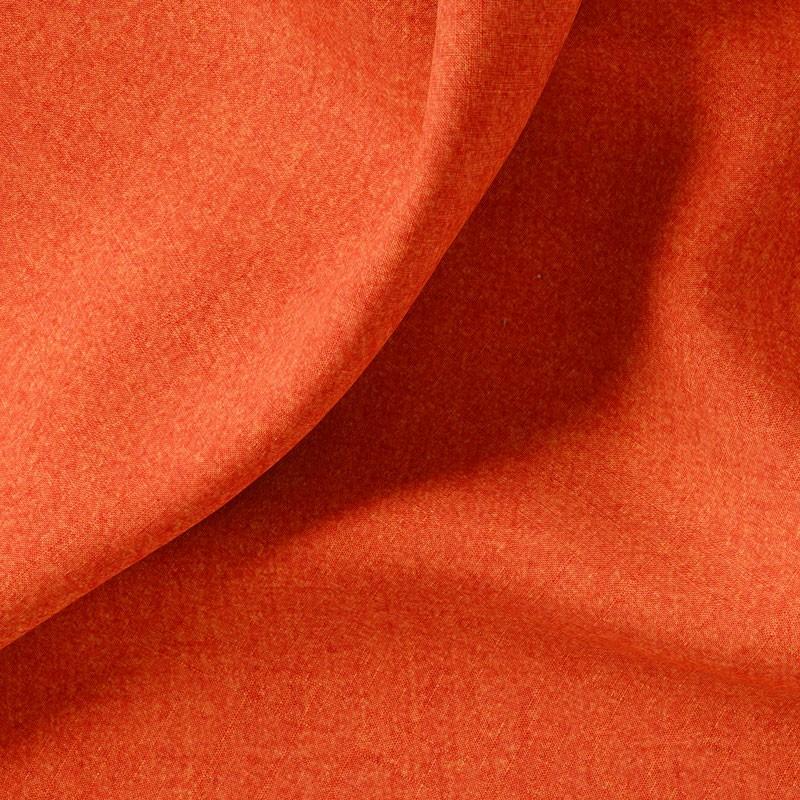Tissu-polyester-aspect-laine-chiné-orange