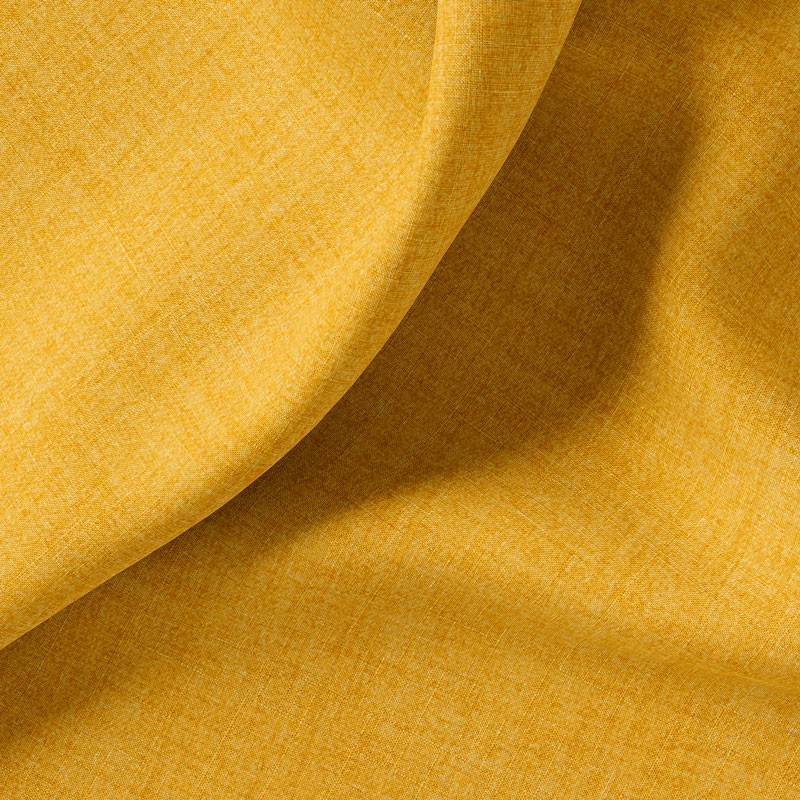Tissu-polyester-aspect-laine-chiné-ocre