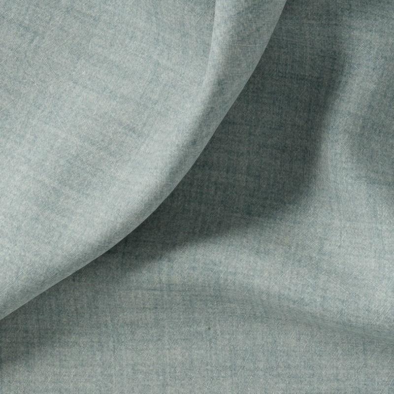 Tissu-polyester-aspect-laine-chiné-bleu-clair