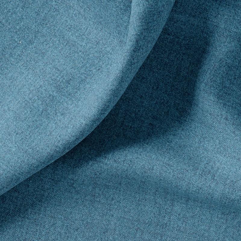 Tissu-polyester-aspect-laine-chiné-bleu