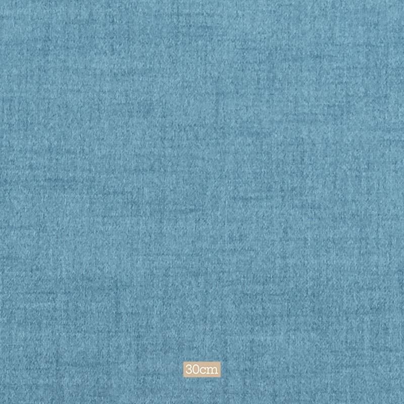Tissu polyester aspect laine chiné bleu ciel