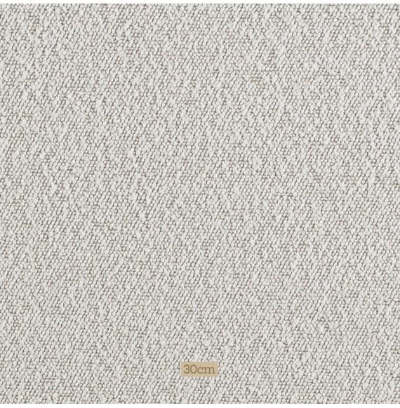 Tissu Brasilia bouclette blanc sur fond beige