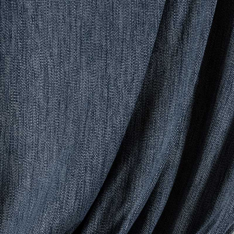 Tissu-polyester-chiné-bleu