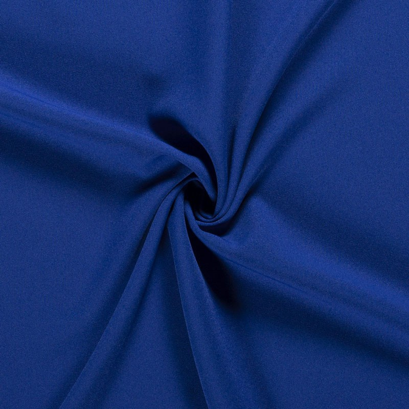 Tissu-polyester-uni-bleu-roi