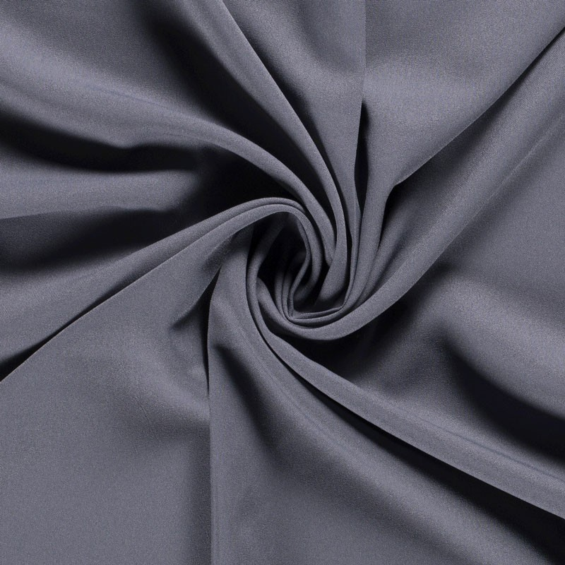 Tissu-polyester-uni-gris-moyen