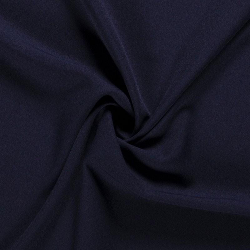 Tissu-polyester-uni-bleu-foncé