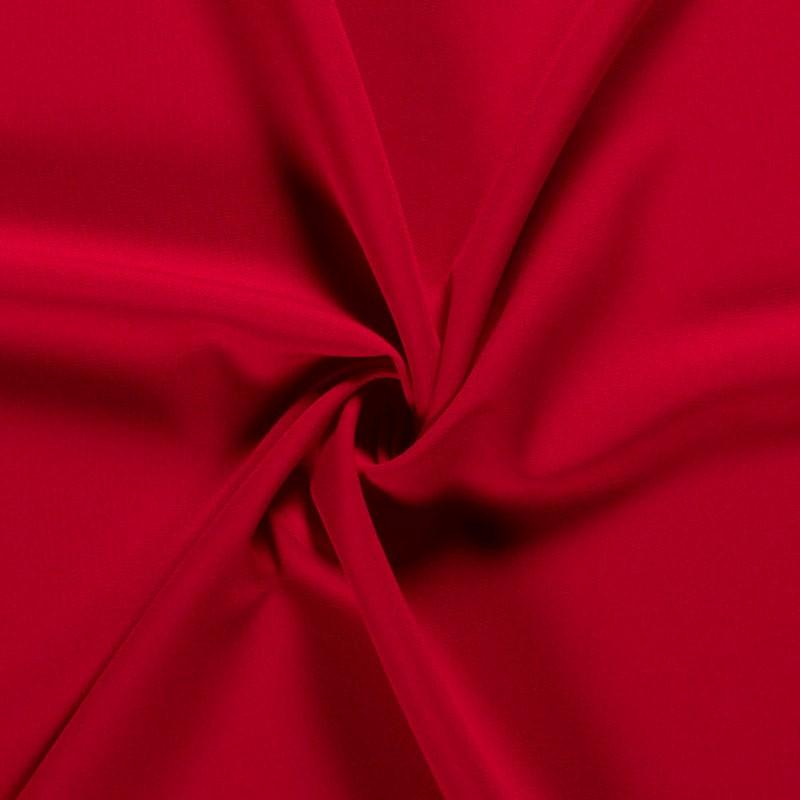 Tissu-polyester-uni-rouge