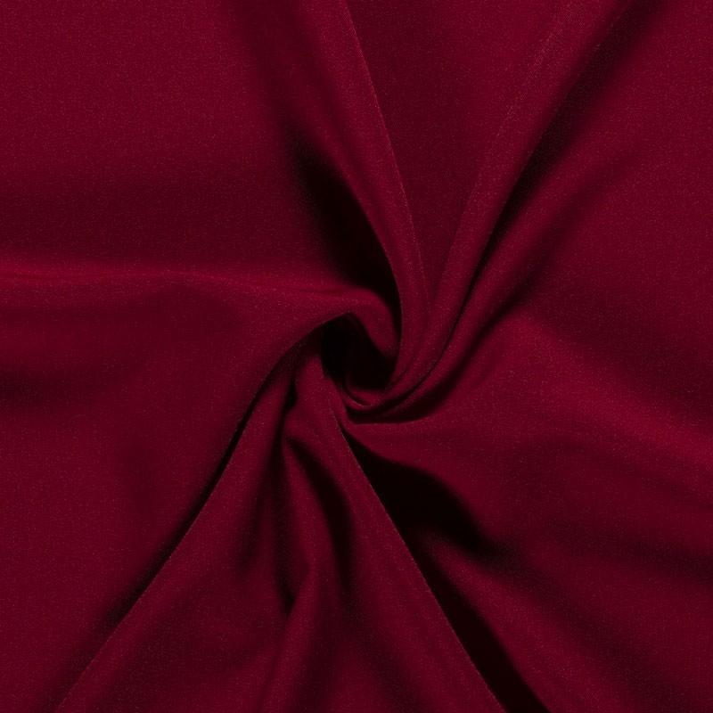 Tissu-polyester-uni-bordeau