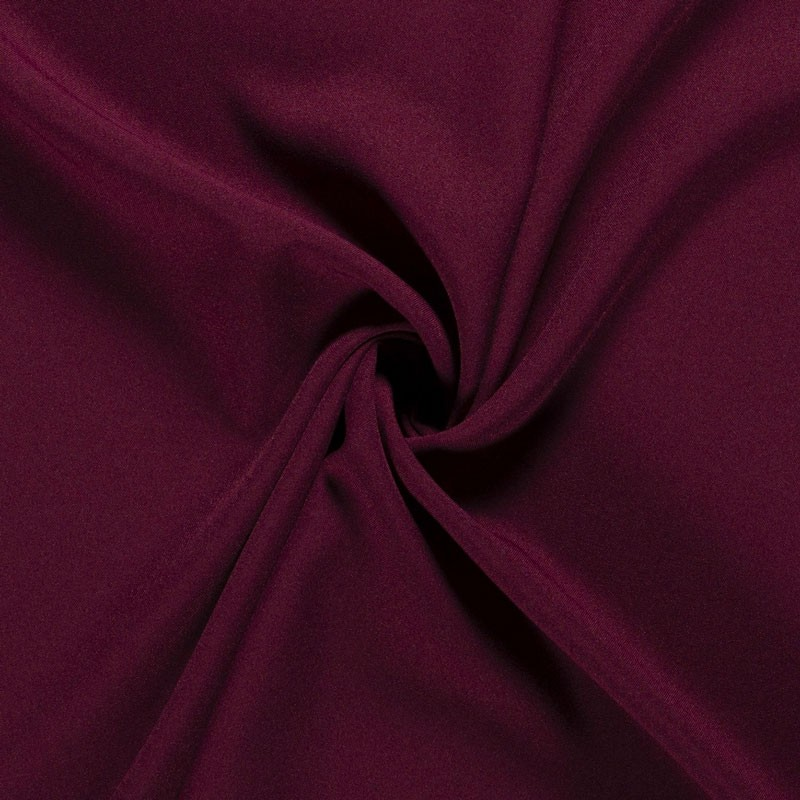Tissu-polyester-uni-lie-de-vin