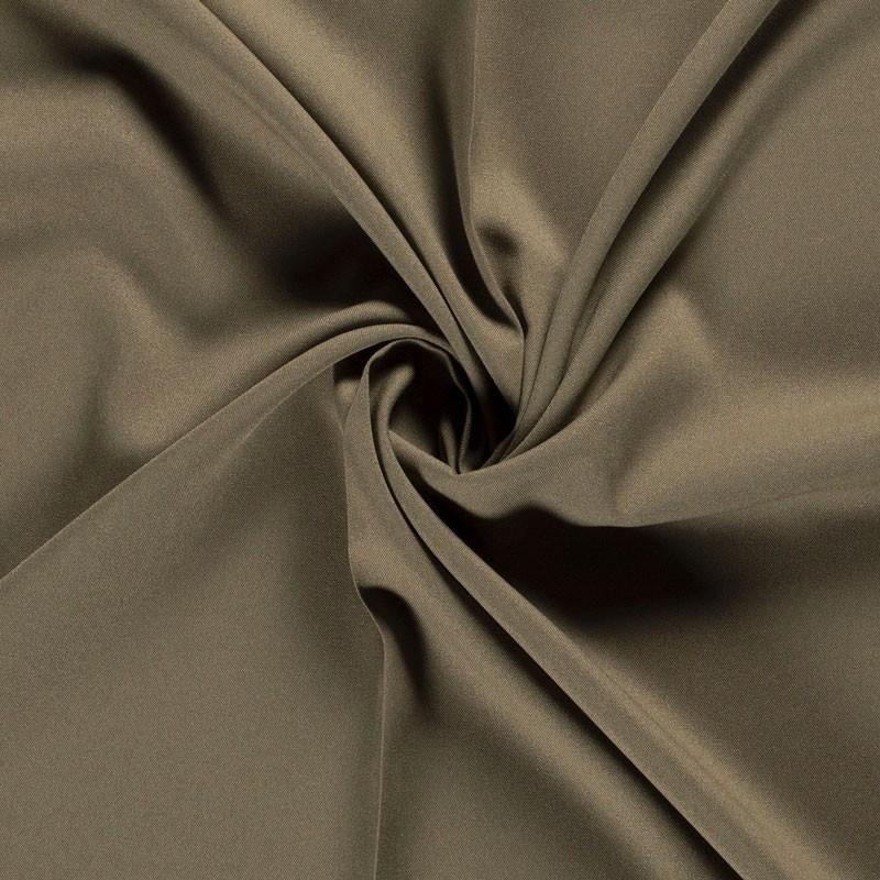 Tissu-polyester-uni-kaki