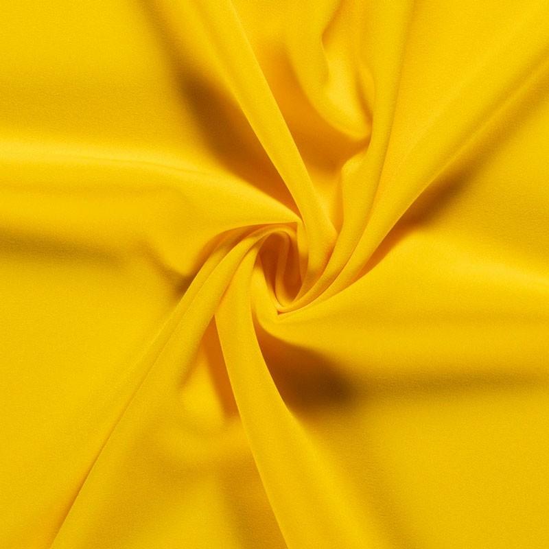 Tissu-polyester-uni-jaune