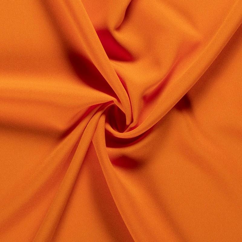 Tissu-polyester-uni-orange