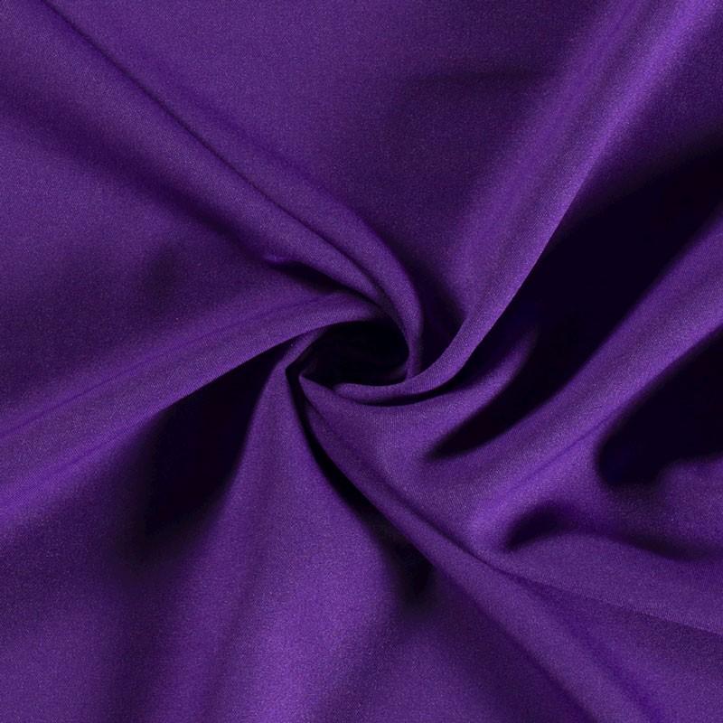 Tissu-polyester-uni-pourpre