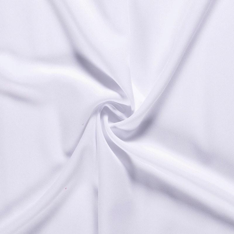 Tissu-polyester-uni-blanc