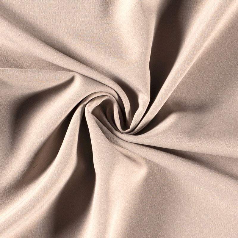 Tissu-polyester-uni-beige
