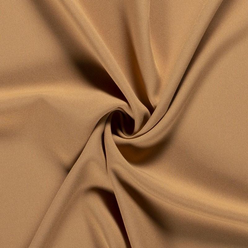 Tissu-polyester-uni-camel