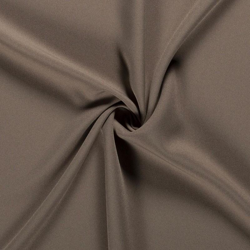 Tissu-polyester-uni-taupe