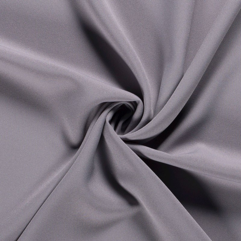 Tissu-polyester-uni-gris-clair