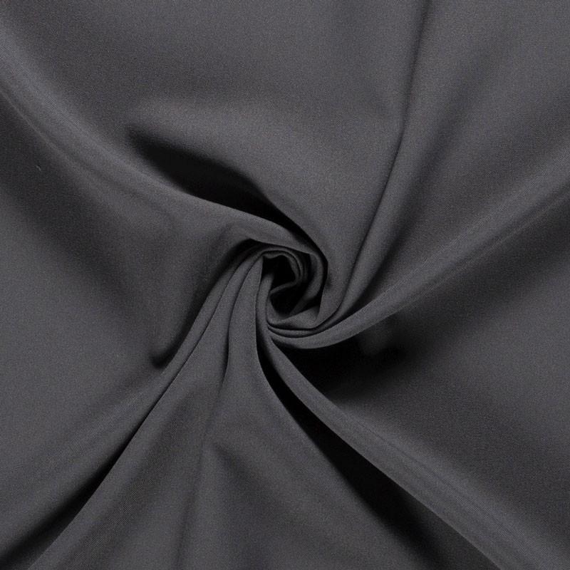 Tissu-polyester-uni-gris-foncé