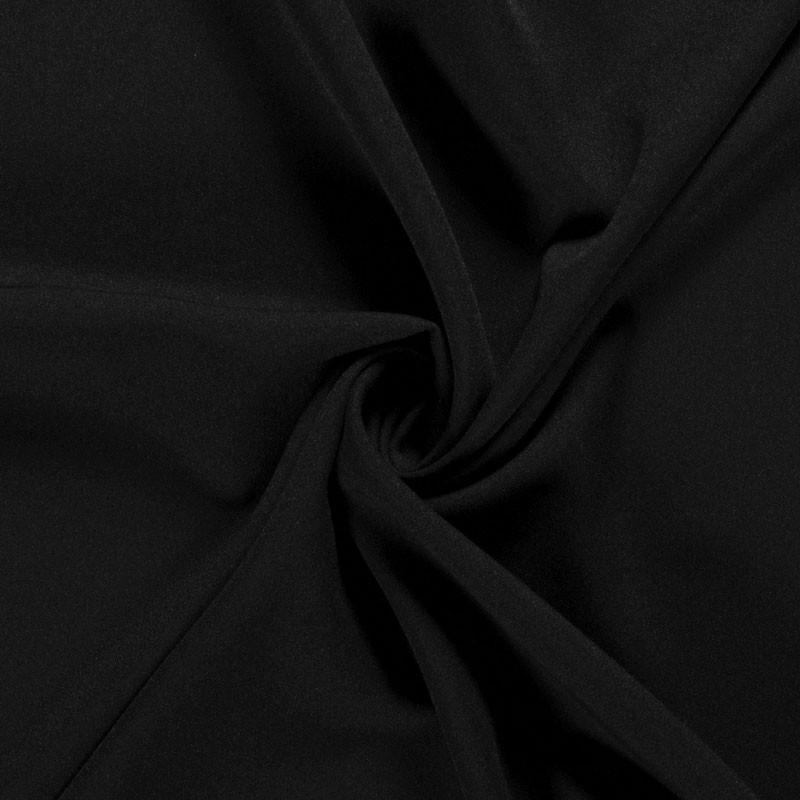 Tissu-polyester-uni-noir