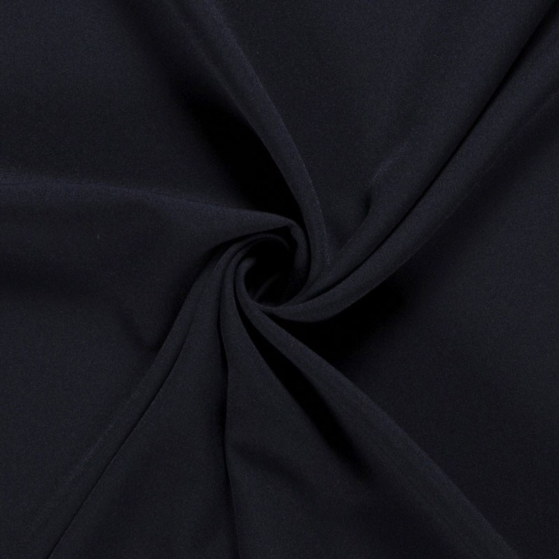 Tissu-polyester-uni-bleu-marine