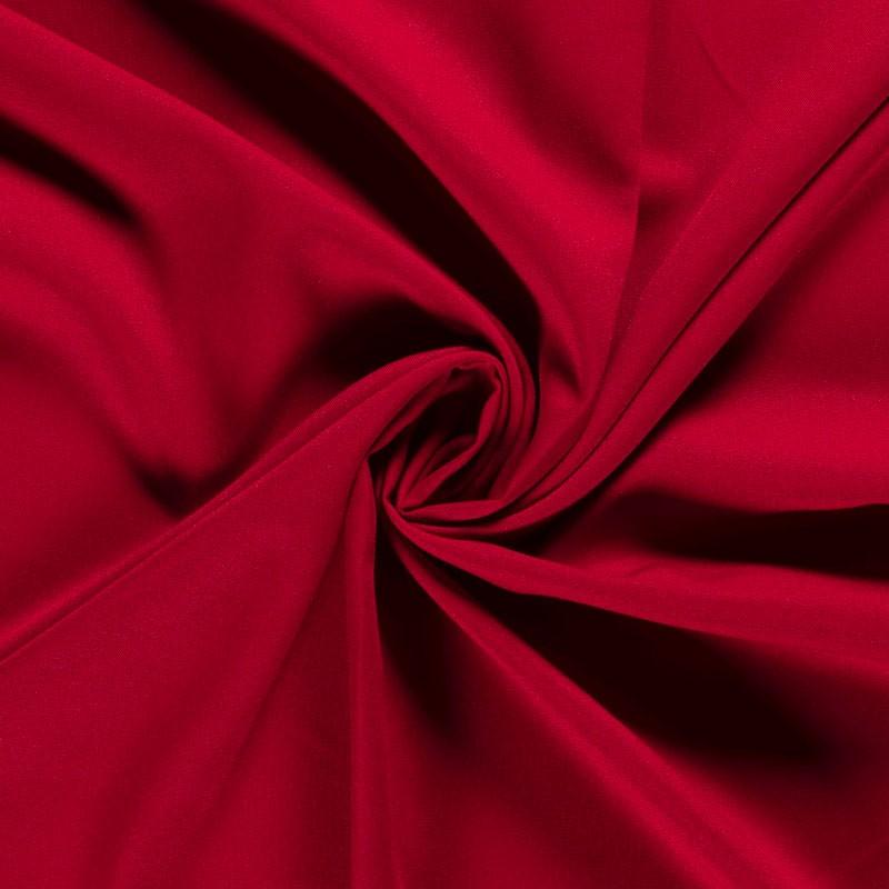 Tissu-polyester-uni-rouge-foncé