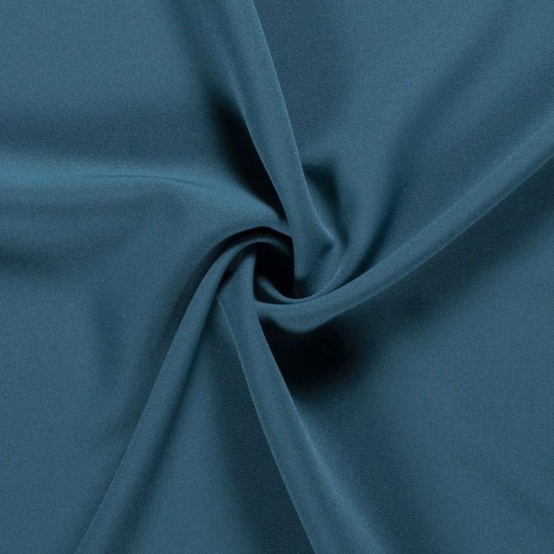 Tissu-polyester-uni-bleu-pétrole