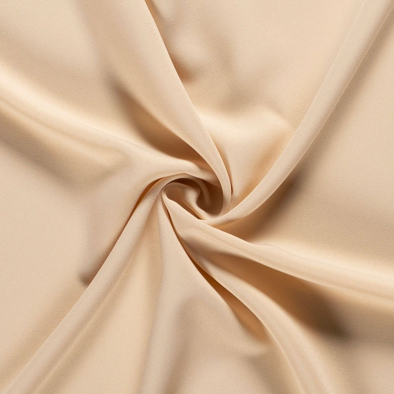 Tissu-polyester-uni-beige-rosé